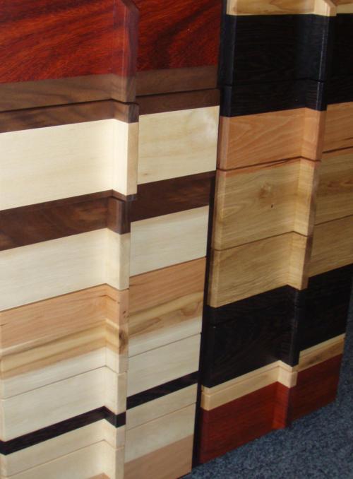 ladekastjes, diverse houtsoorten