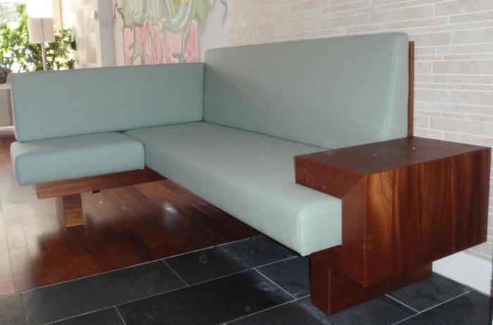 sofa, mahonie en berkenmultiplex