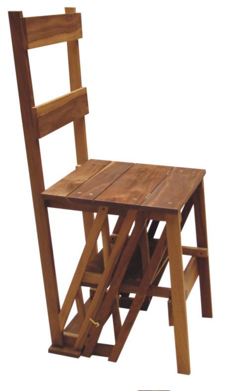 trapstoel, walnoot