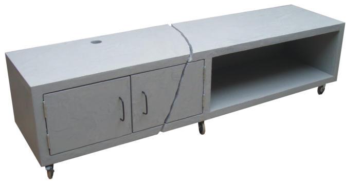 TV-kast, beton