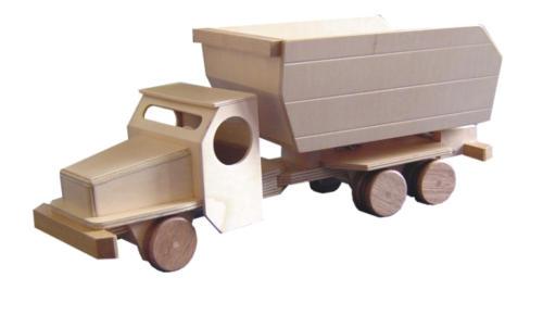 vrachtwagens, diverse houtsoorten